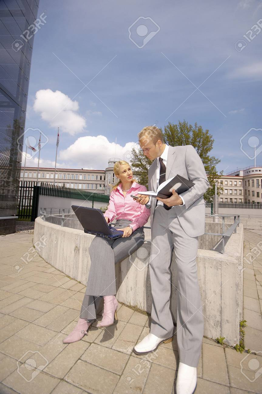 Business people having discussion Stock Photo - 3194053