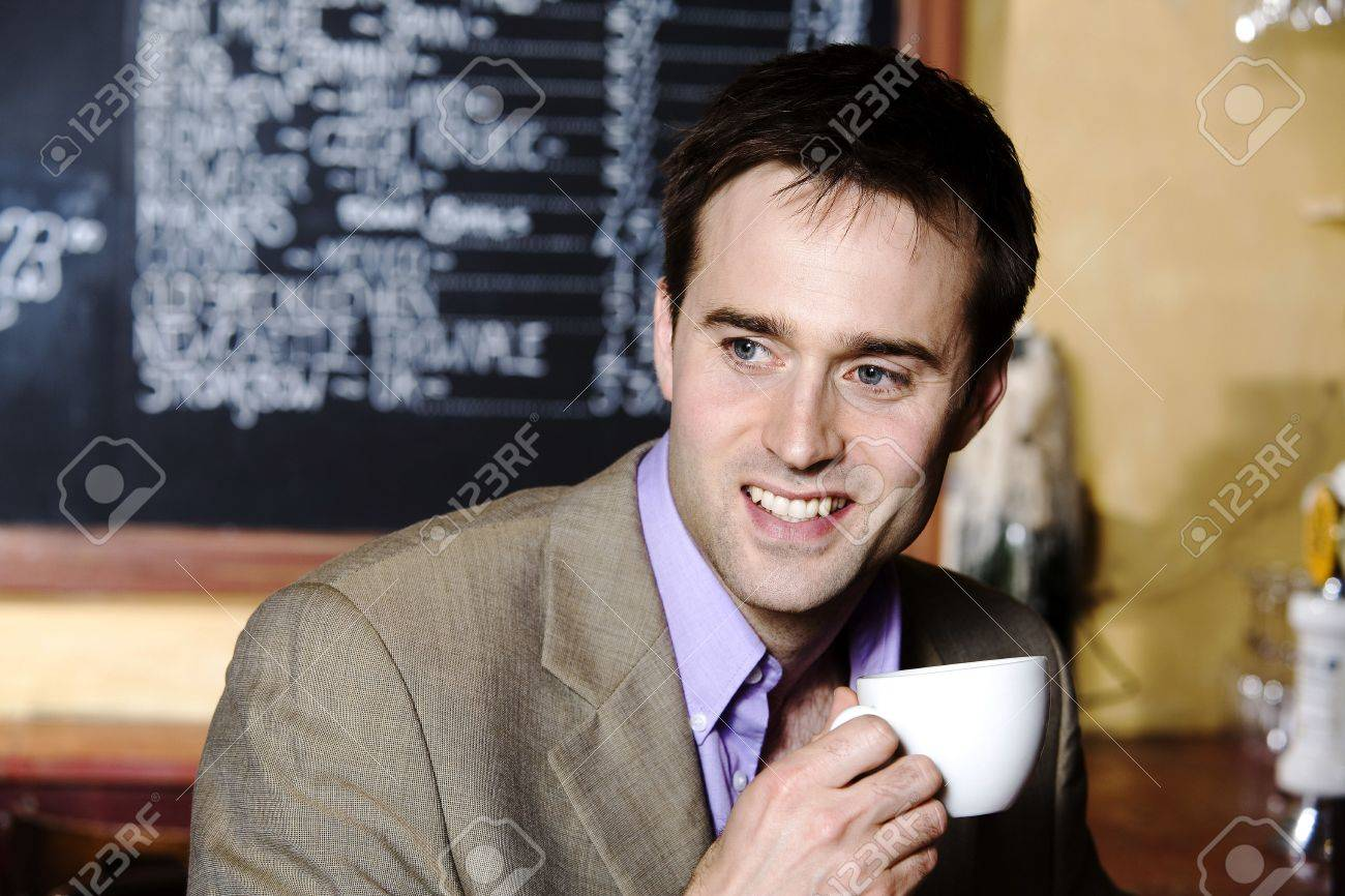 Businessman with a cup of coffee Stock Photo - 3194162