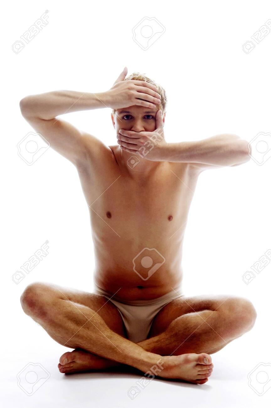 Man practising yoga. Stock Photo - 3192142
