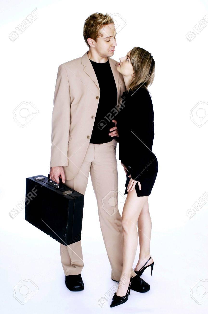 Couple in office attire. Stock Photo - 3192182