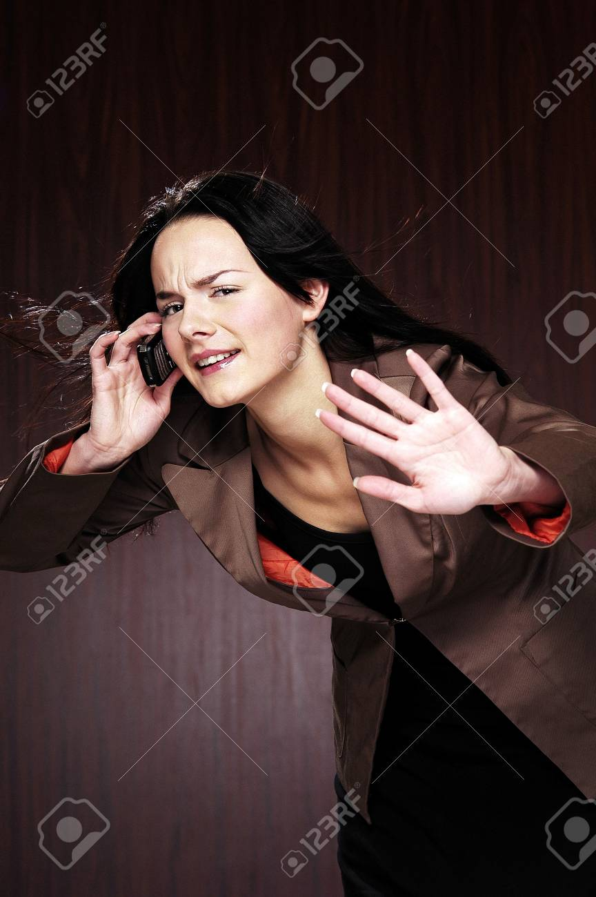 Businesswoman talking on the mobile phone. Stock Photo - 3192429