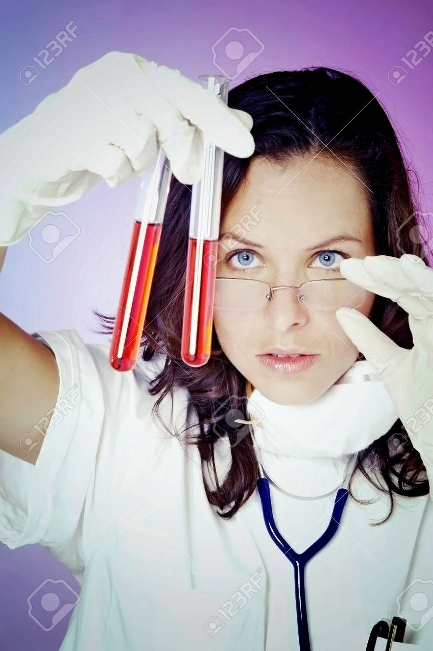 Female doctor working in the lab. Stock Photo - 3192463