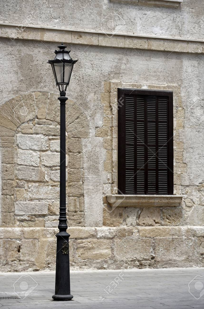 Street light in Mallorca, Majorca, Balearic Islands, Spain. Stock Photo - 3190963