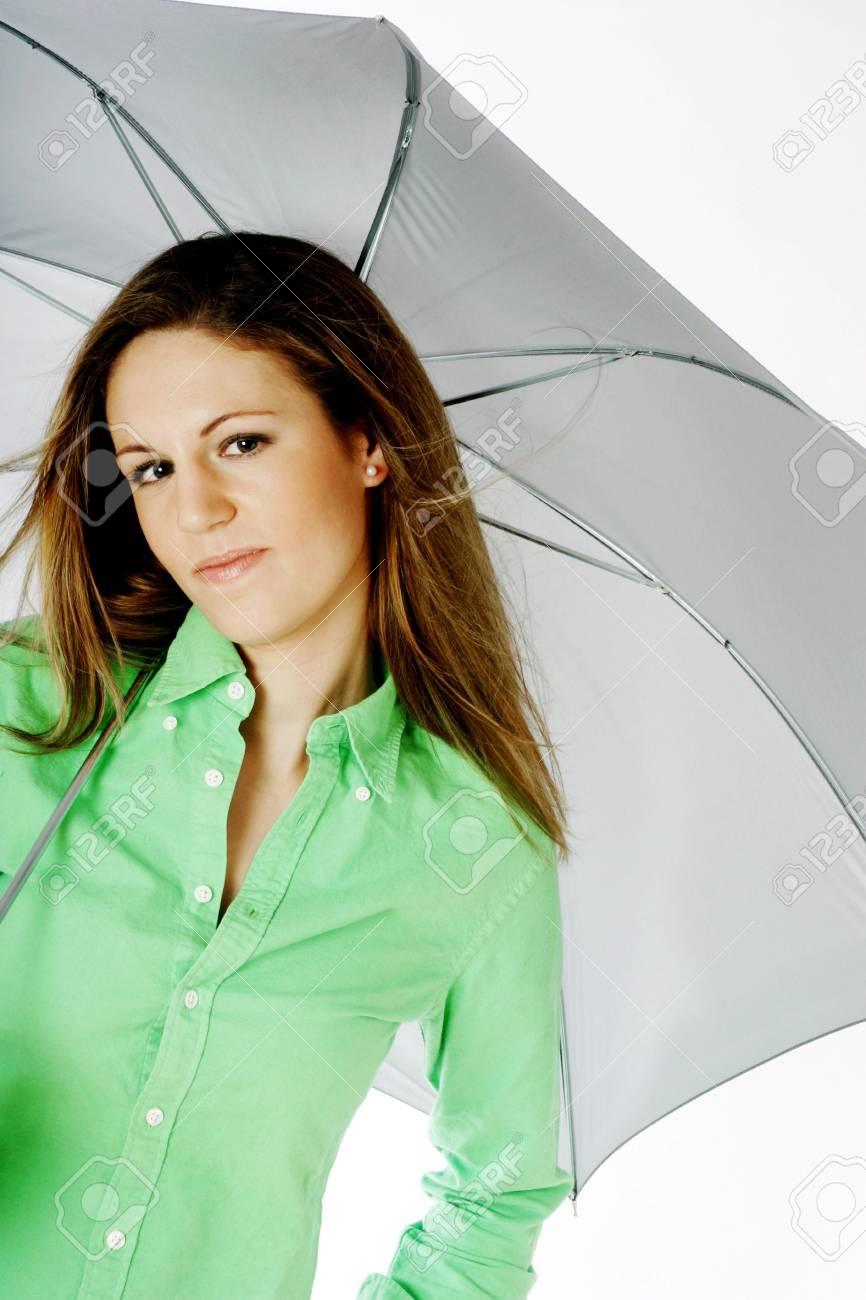 Woman holding an umbrella. Stock Photo - 3191286