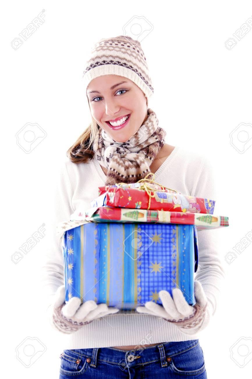 Woman holding presents Stock Photo - 3191998