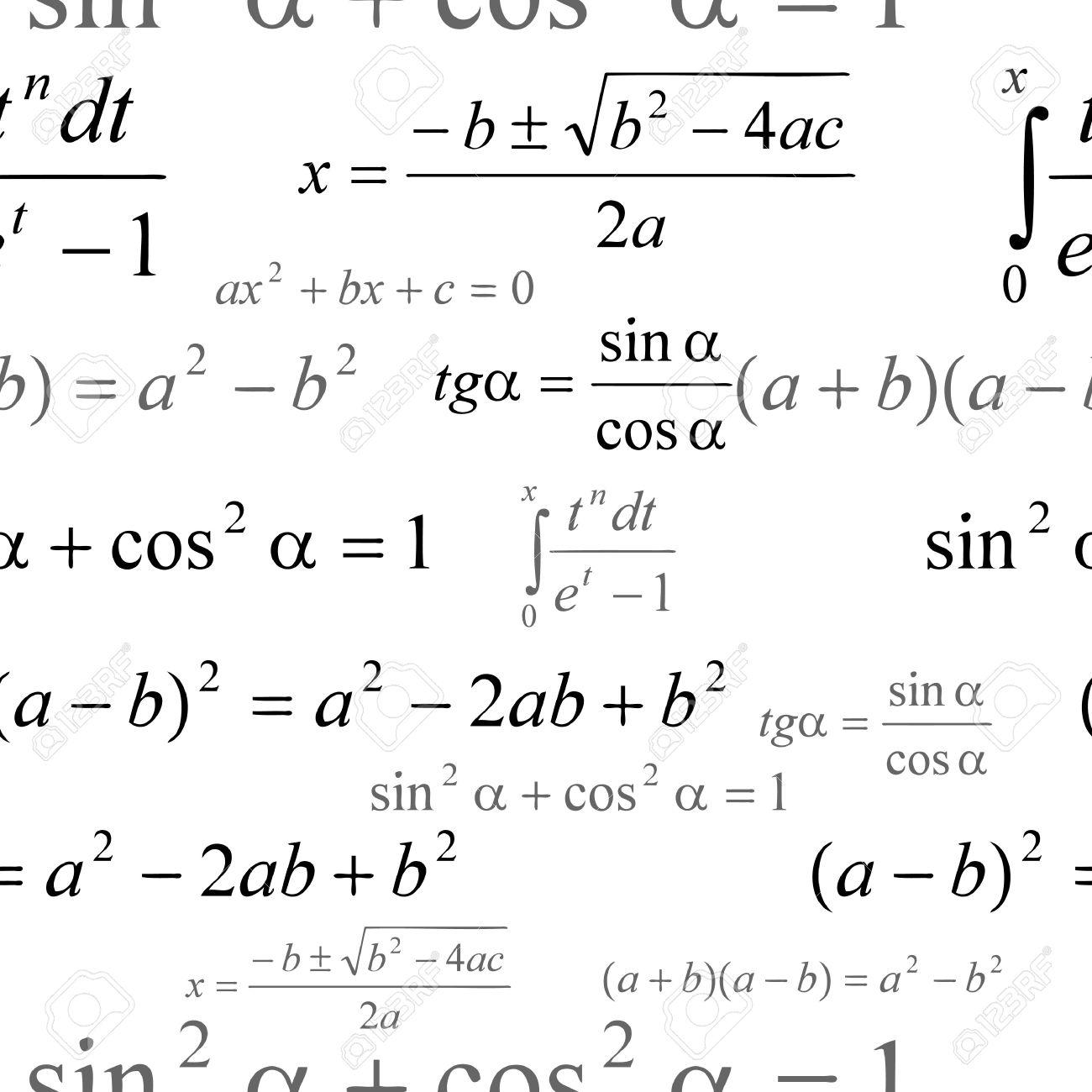 Seamlessly vector wallpaper mathematics on white Stock Vector - 2378604