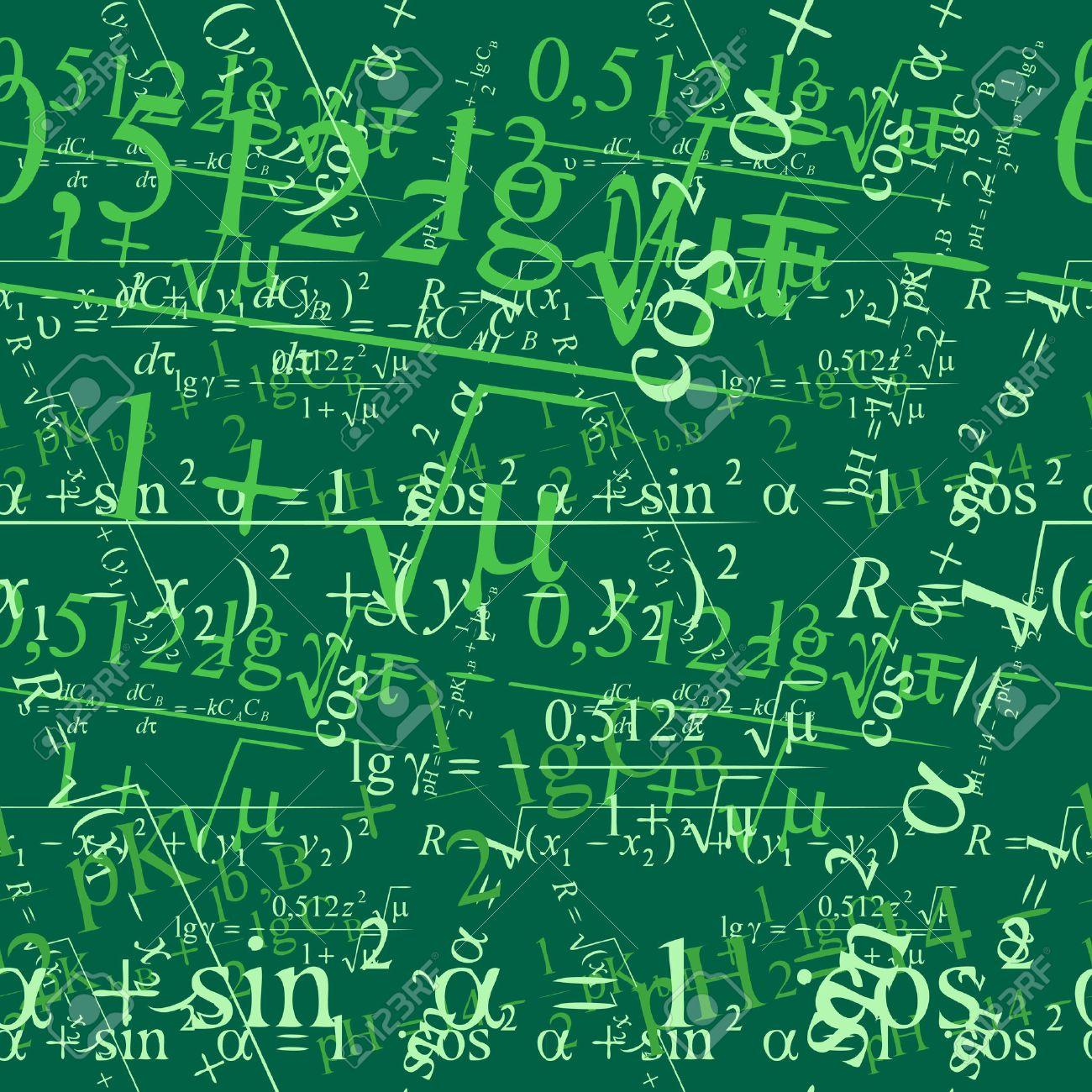 シームレスに黒板に壁紙数学をベクトルします のイラスト素材 ベクタ