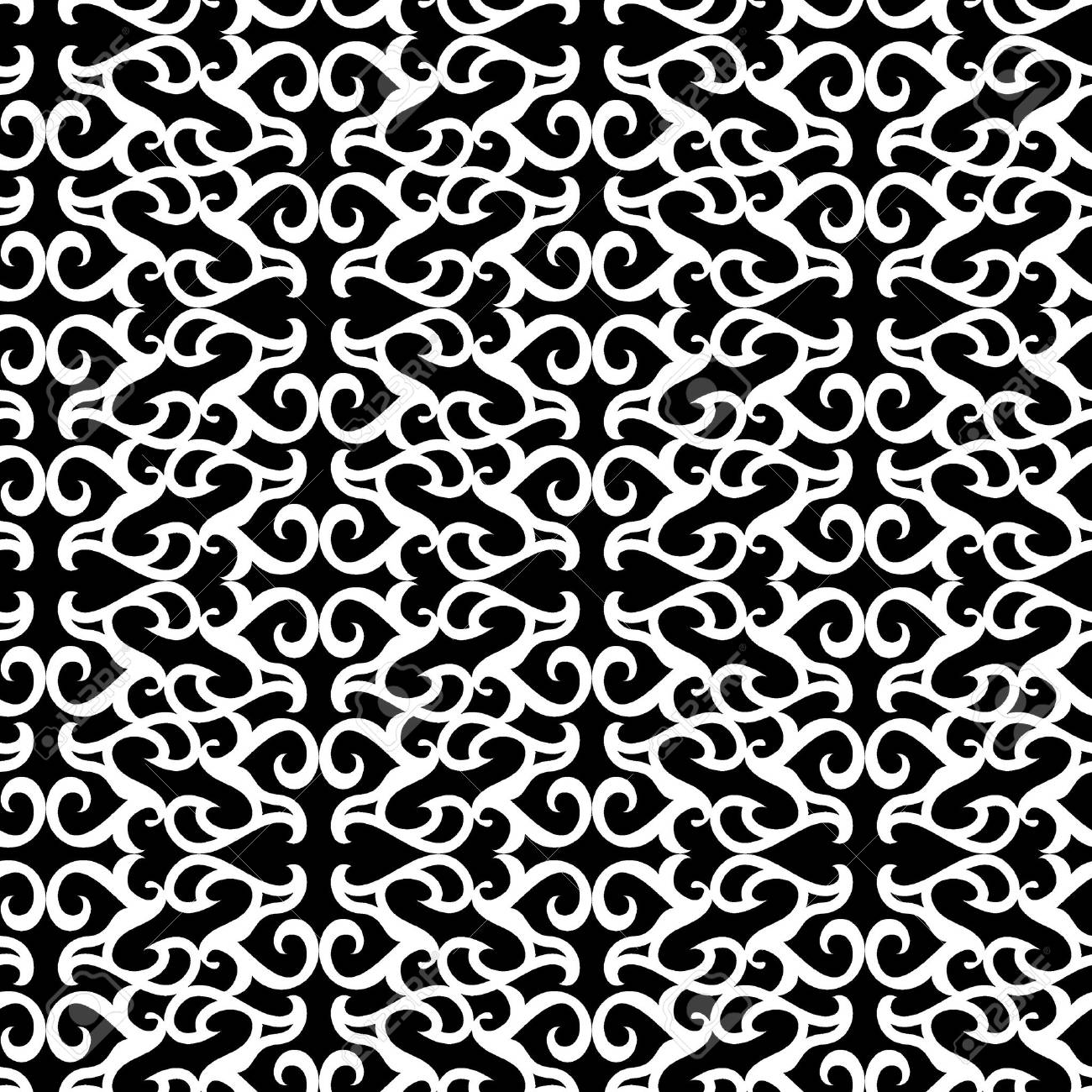 Seamless black and white ornament vector pattern Stock Vector - 2983180
