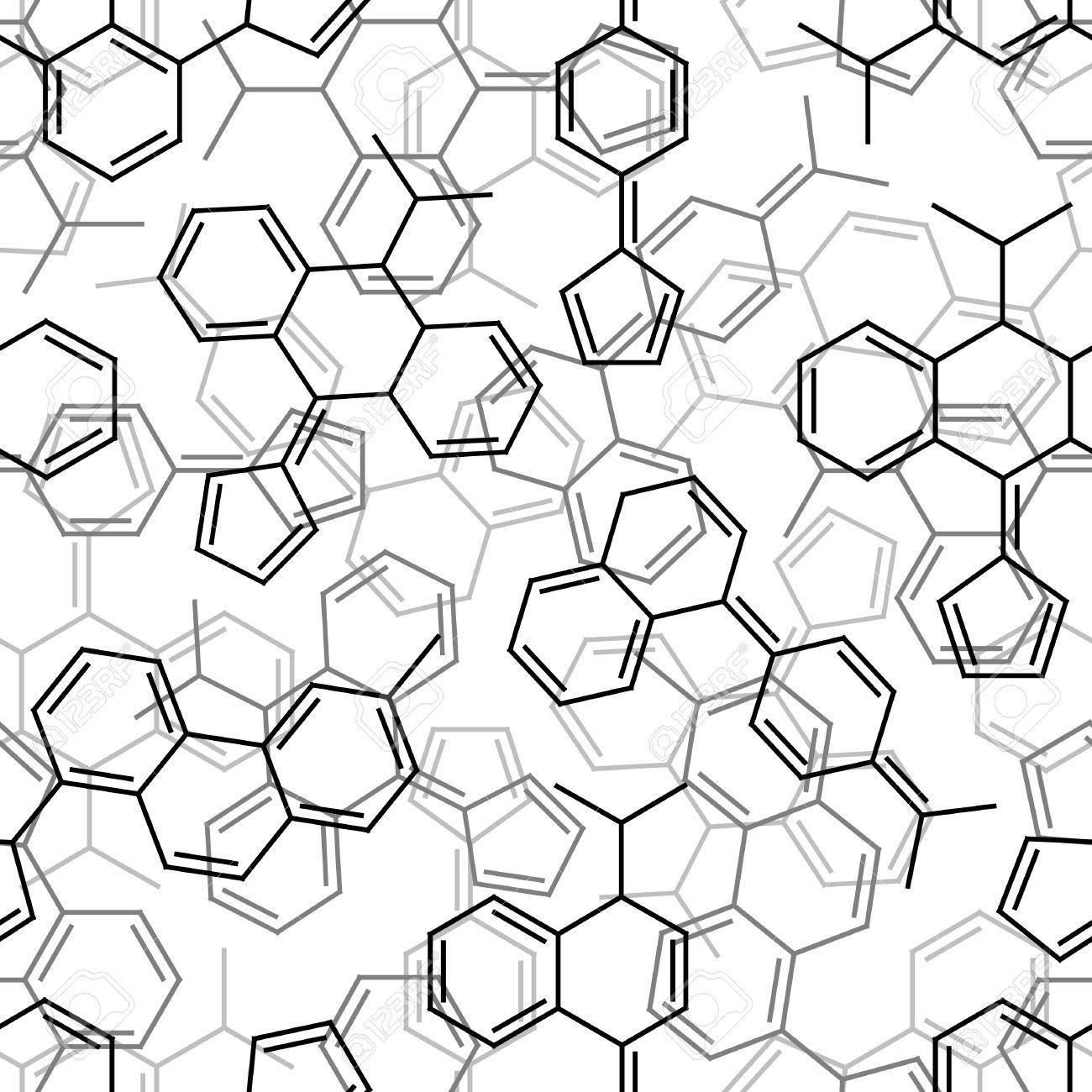 Seamlessly vector wallpaper chemistry formulas on white Stock Vector - 3181563