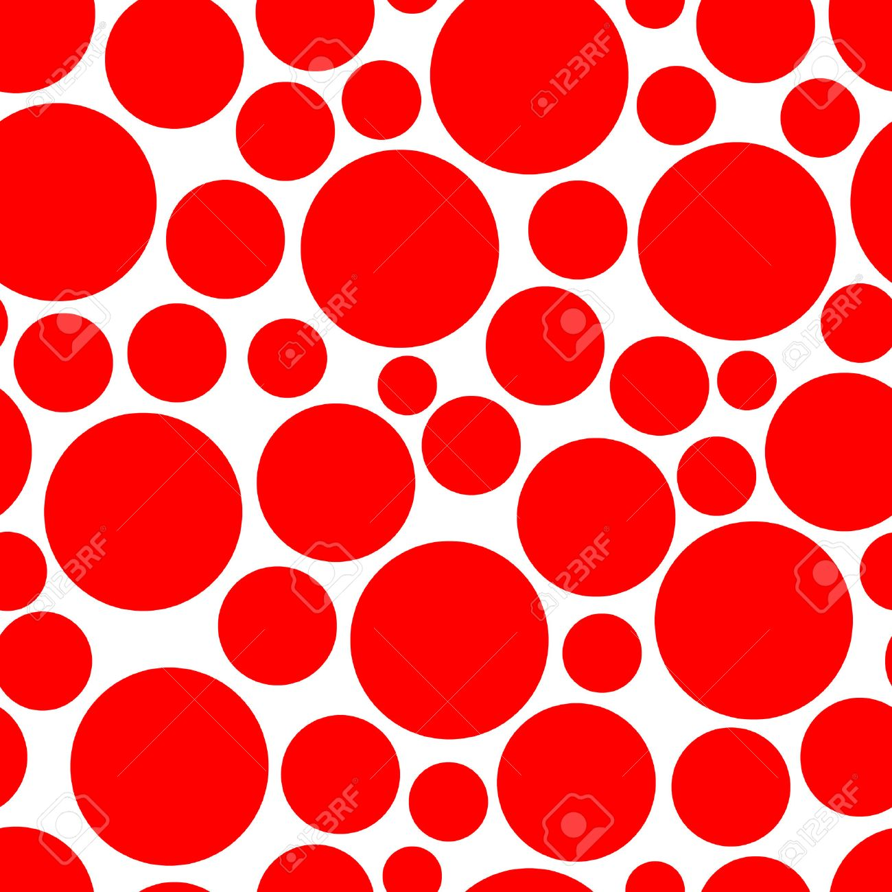 Seamless vector texture with red circles Stock Vector - 3299803