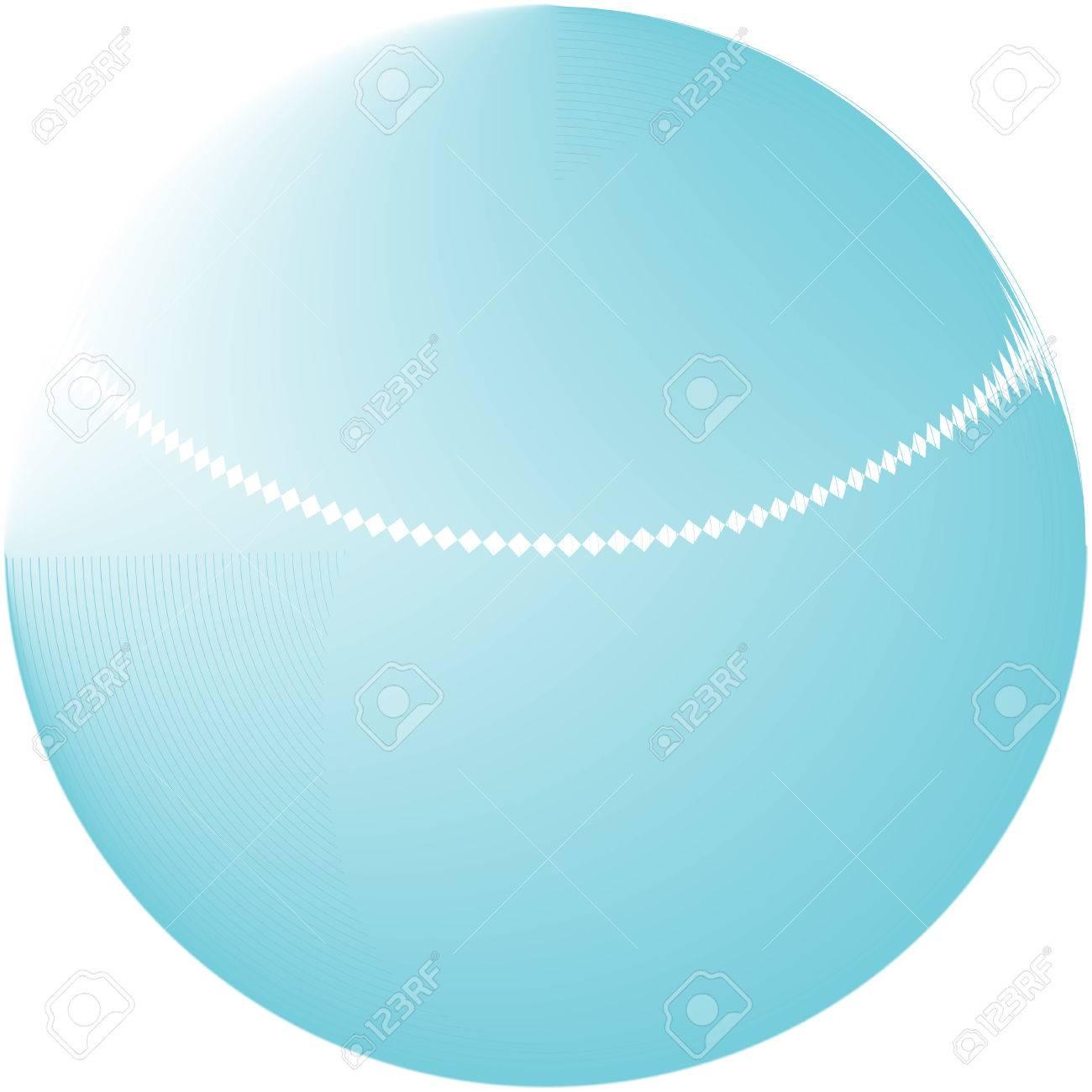 Abstract blue globe logo Stock Vector - 3550439