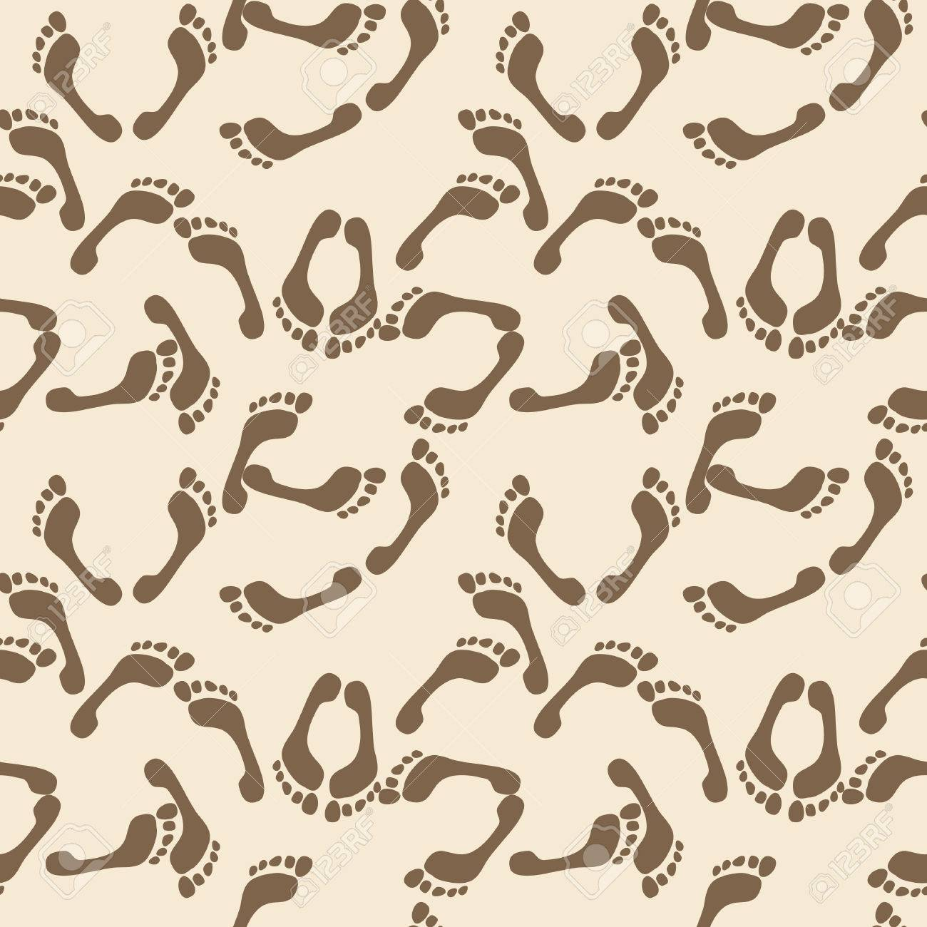 Seamless Footprint Wallpaper Stock Vector