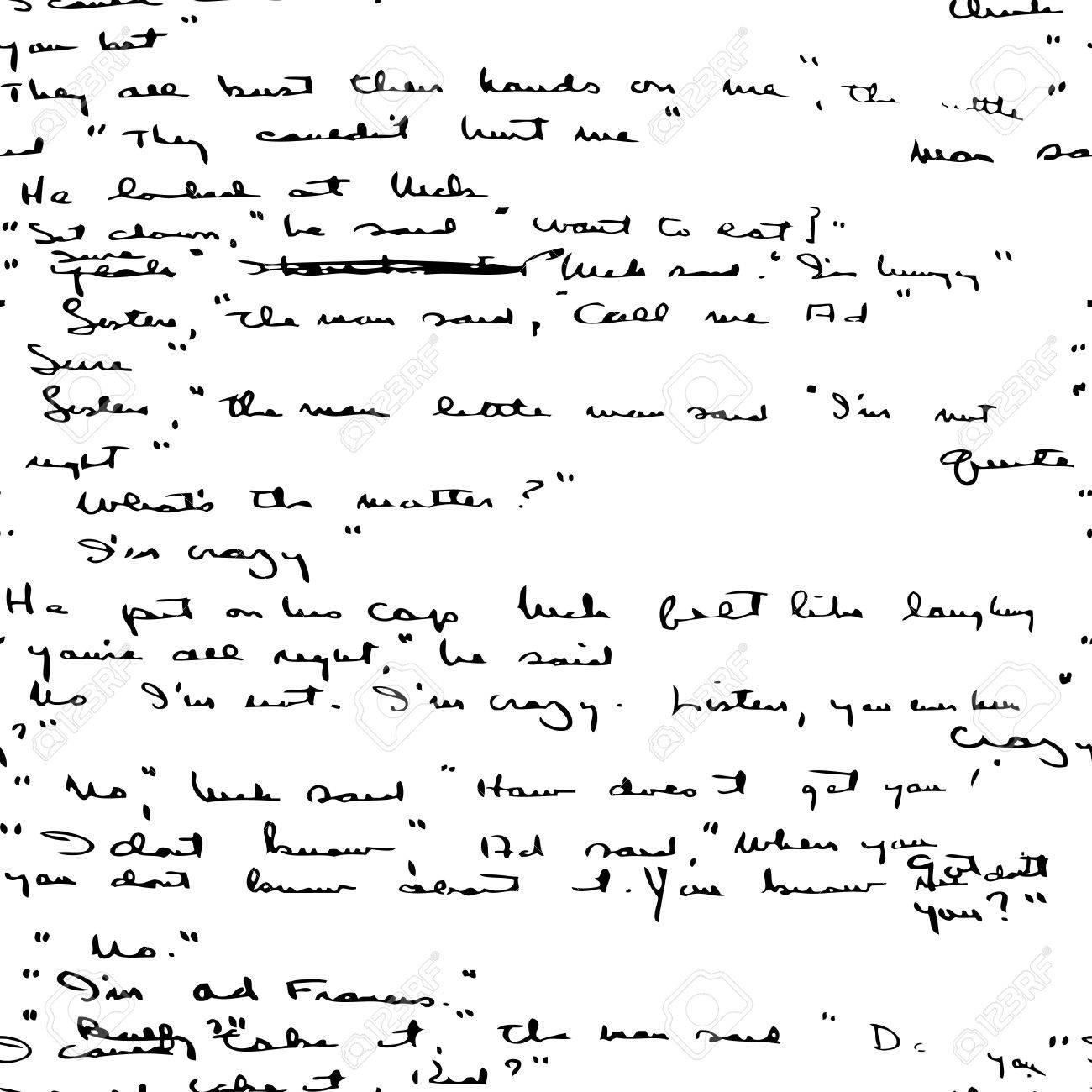 Seamless vector wallpaper based on manuscript Stock Vector - 4861596