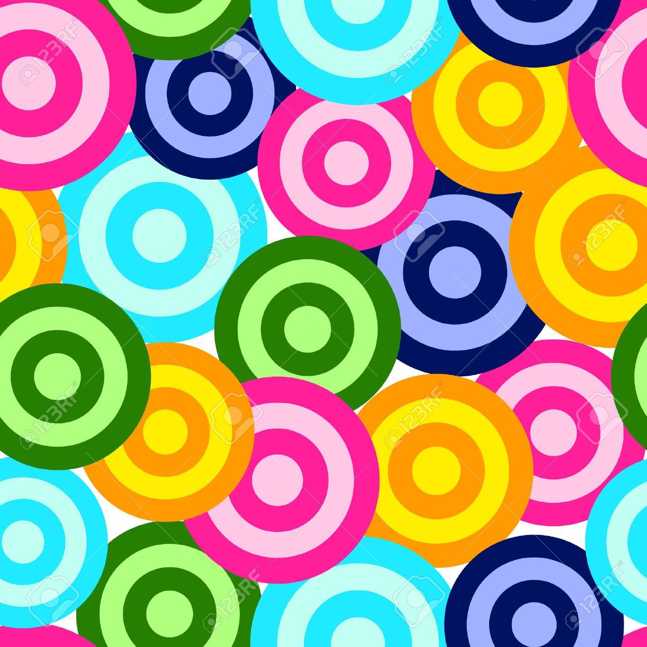 Retro vivid seamless circle background Stock Vector - 4948590