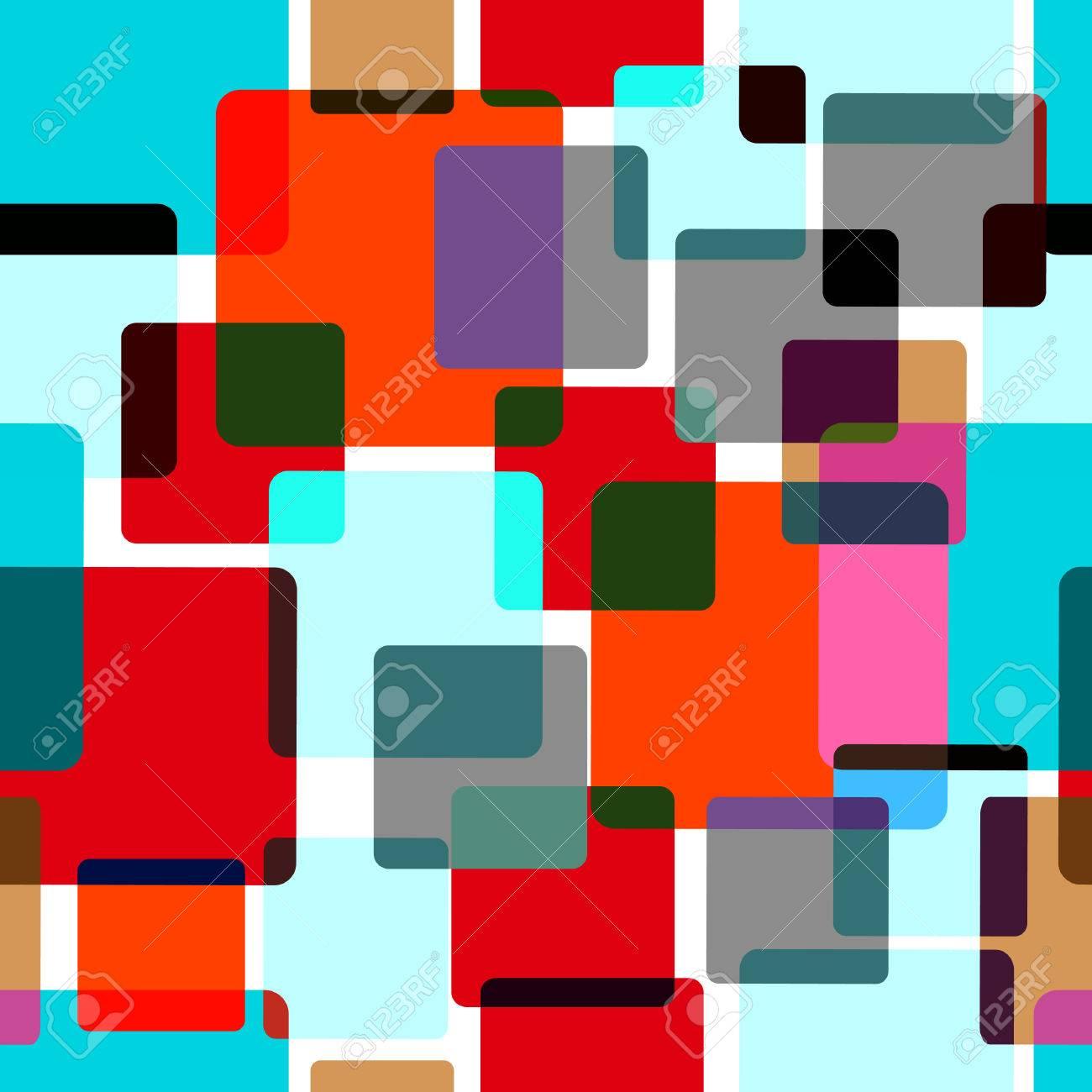 foto de archivo sin fisuras patrn aleatorio con azulejos de colores