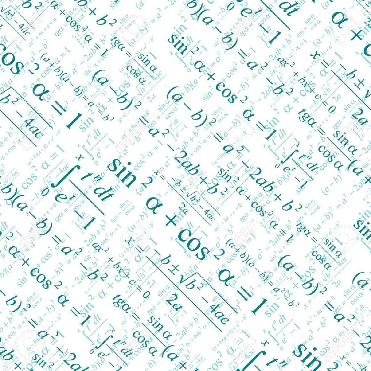 シームレスに白の壁紙数学をベクトルします のイラスト素材 ベクタ