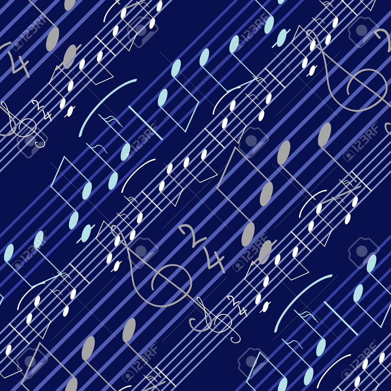 Seamless Wallpaper With Music Notes Stock Vector