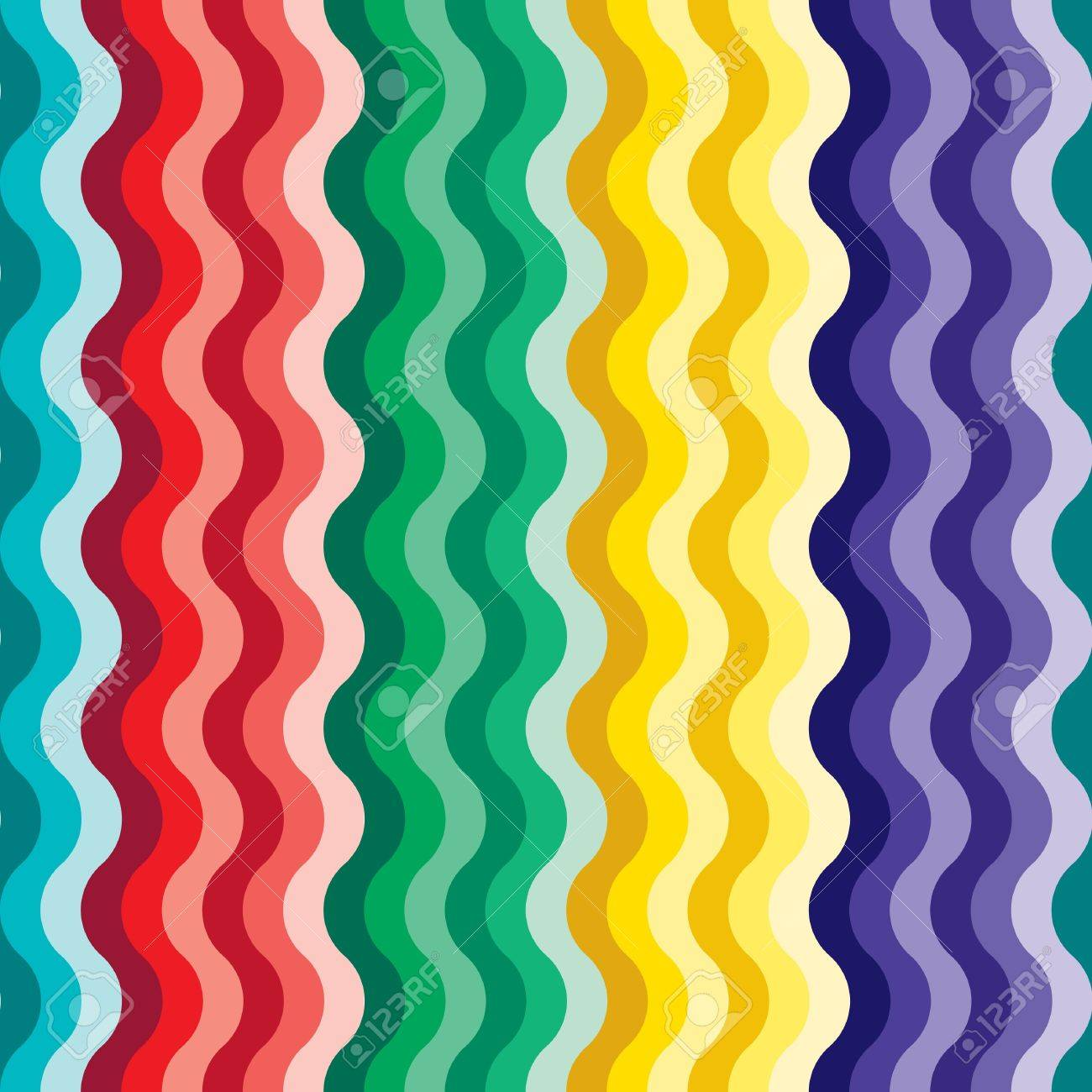 Seamless vivid rainbow wave background Stock Vector - 7009850