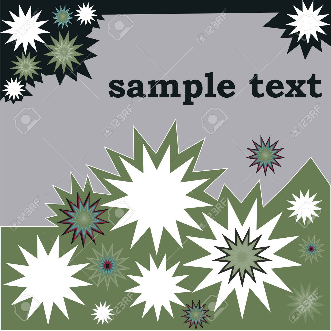 Retro floral background with sample text Stock Vector - 7509530