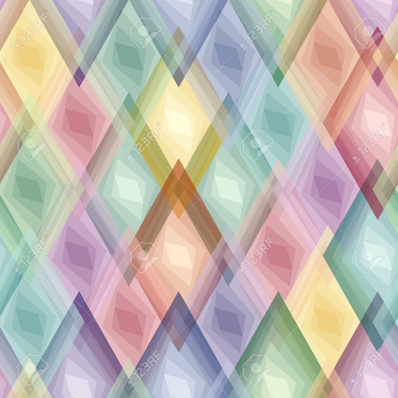 Retro vivid seamless rhombus background Stock Vector - 7509613