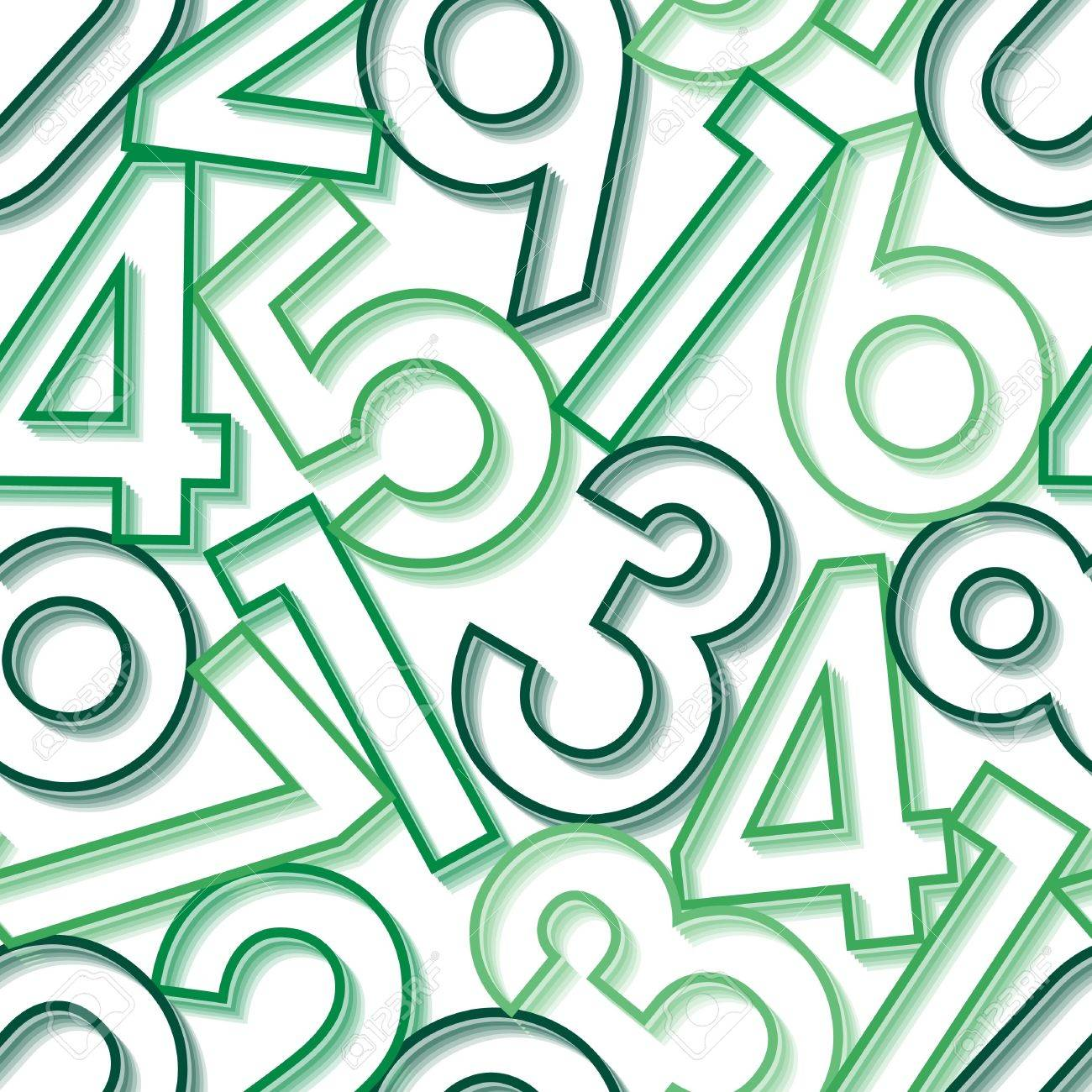 Numbers. Seamless Wallpaper On White Royalty Free Cliparts, Vectors ...