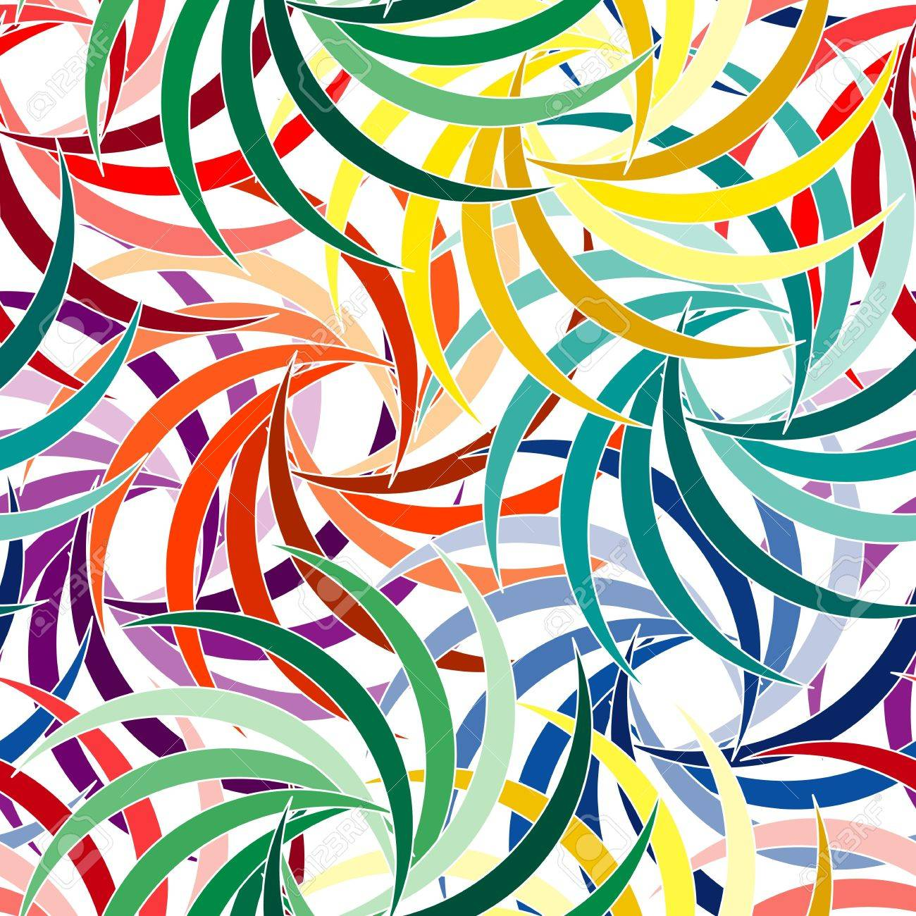Vivid colorful repeating flower seamless background Stock Vector - 9151922