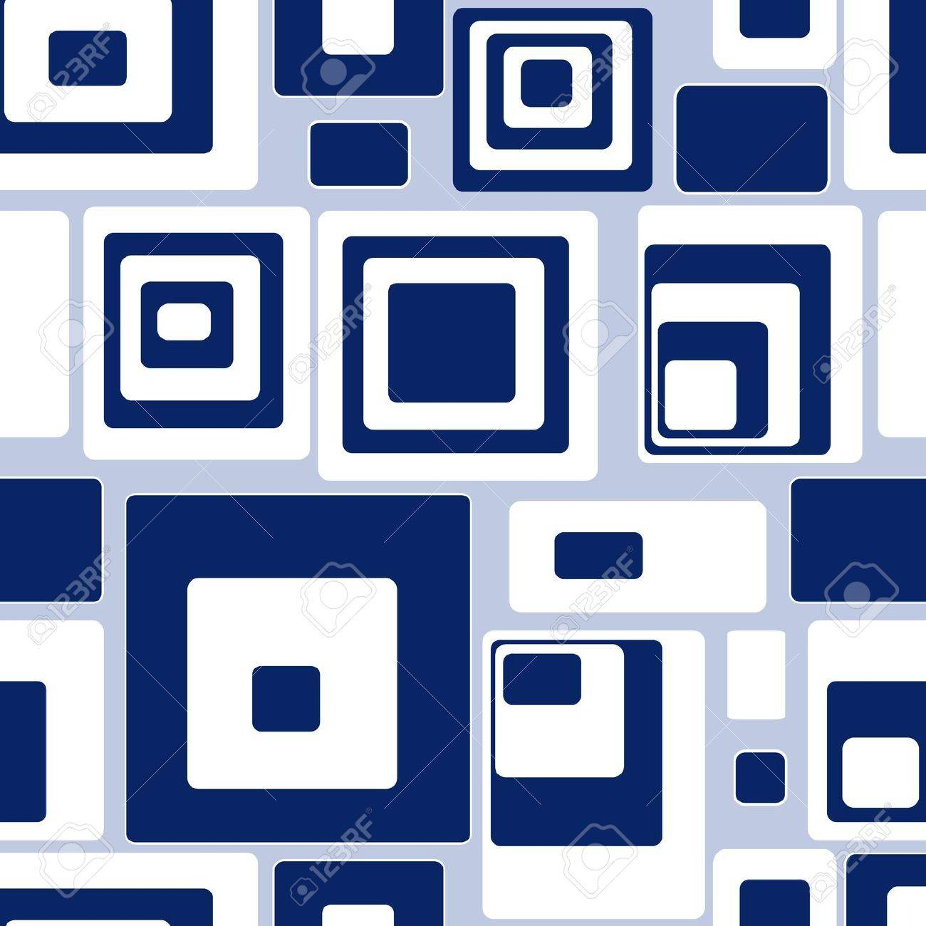 Seamless retro background with blue rectangles Stock Vector - 15069516