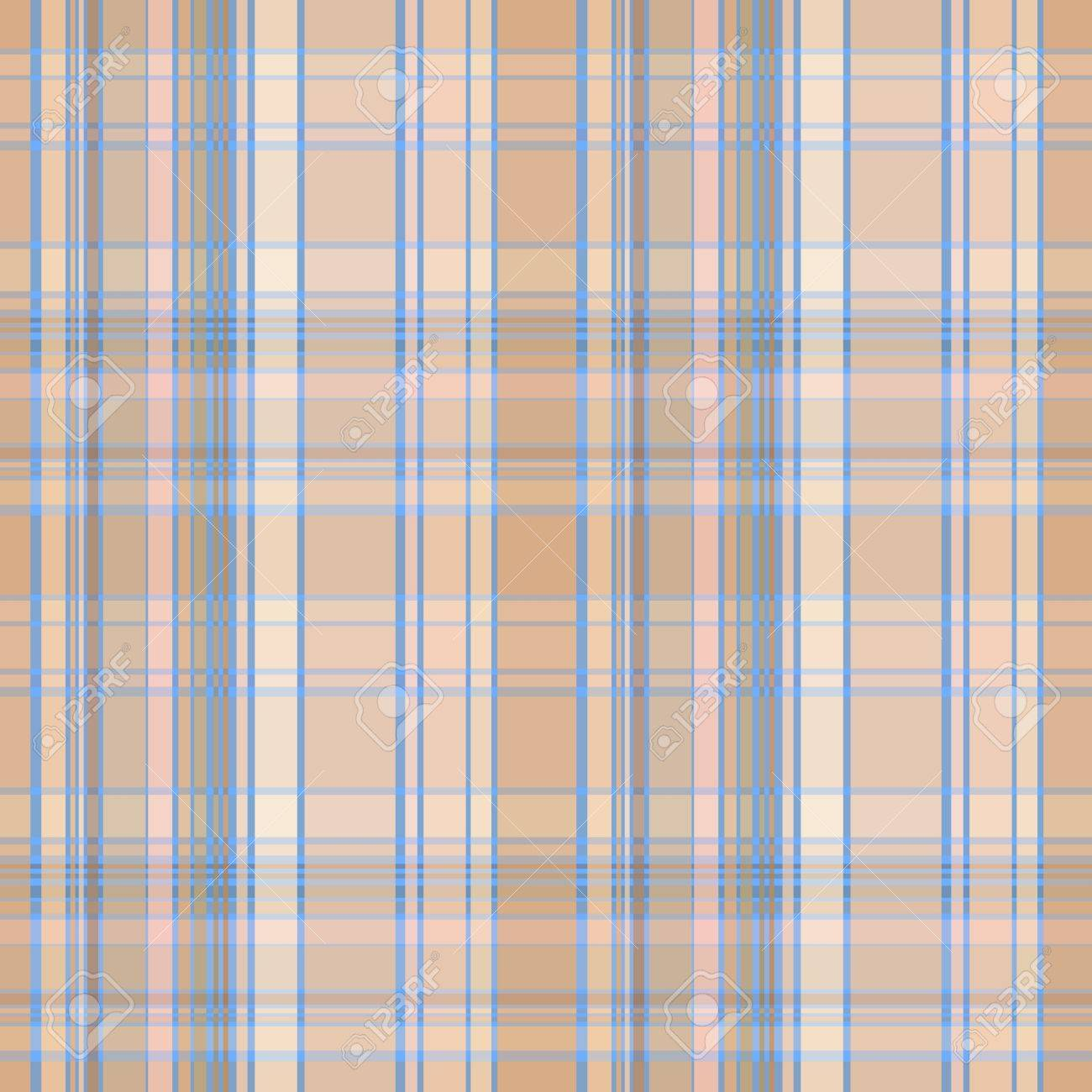 Seamless Plaid Material Pattern With Blue Lines On Brown Stock Vector    15069535