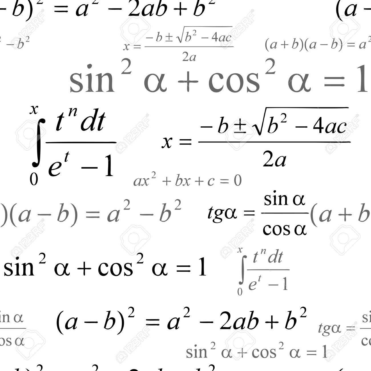 白の数式とシームレスに壁紙のイラスト素材 ベクタ Image
