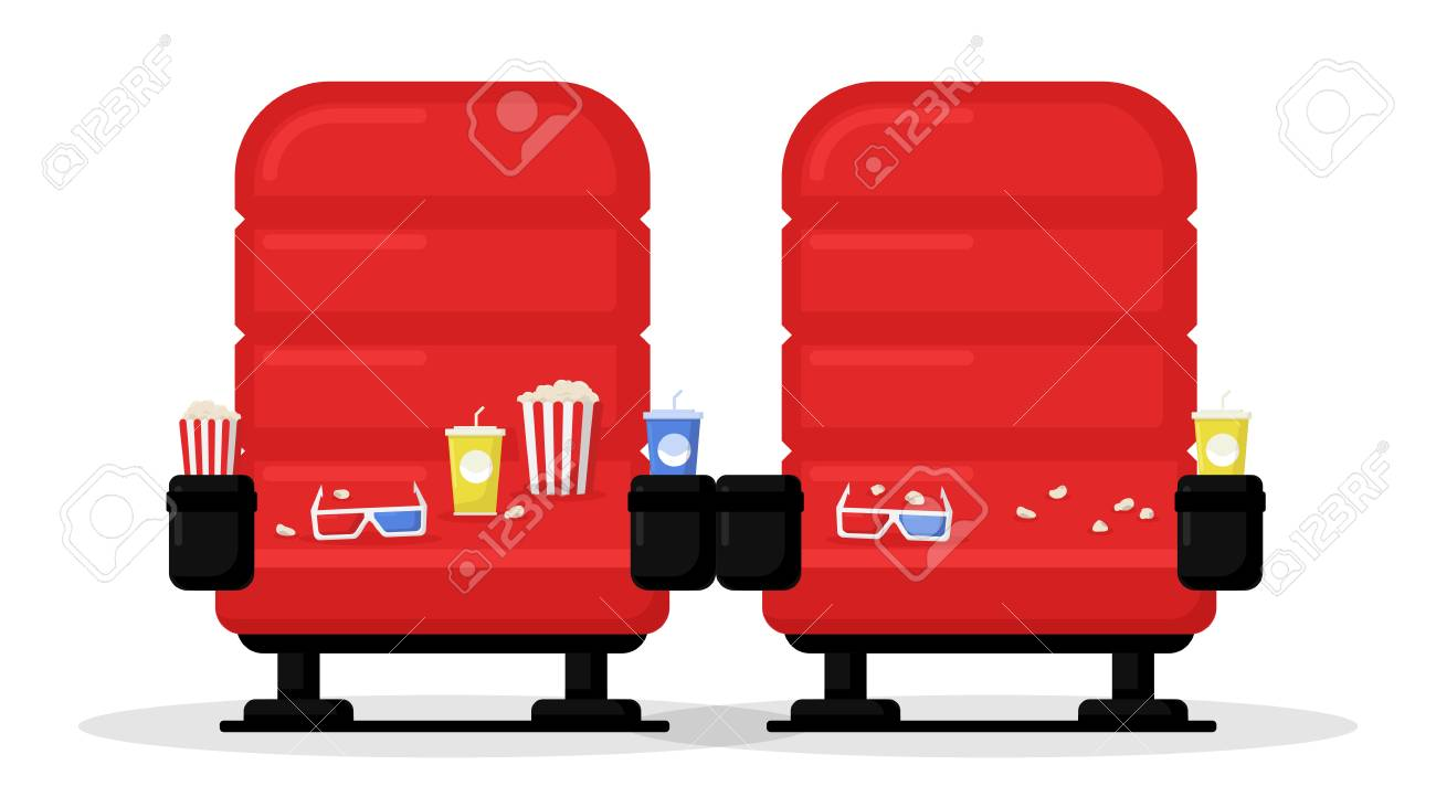 Picture of: Cinema Seats Isolated On White Background Simple Modern Cartoon Royalty Free Cliparts Vectors And Stock Illustration Image 114297108