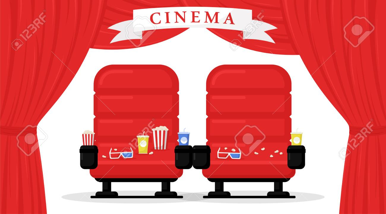 Picture of: Cinema Seats Isolated On White Background Simple Modern Cartoon Royalty Free Cliparts Vectors And Stock Illustration Image 114297110