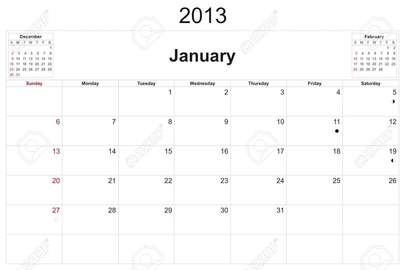 2013 calendar designed by computer using design software, with white background Stock Photo - 15467373