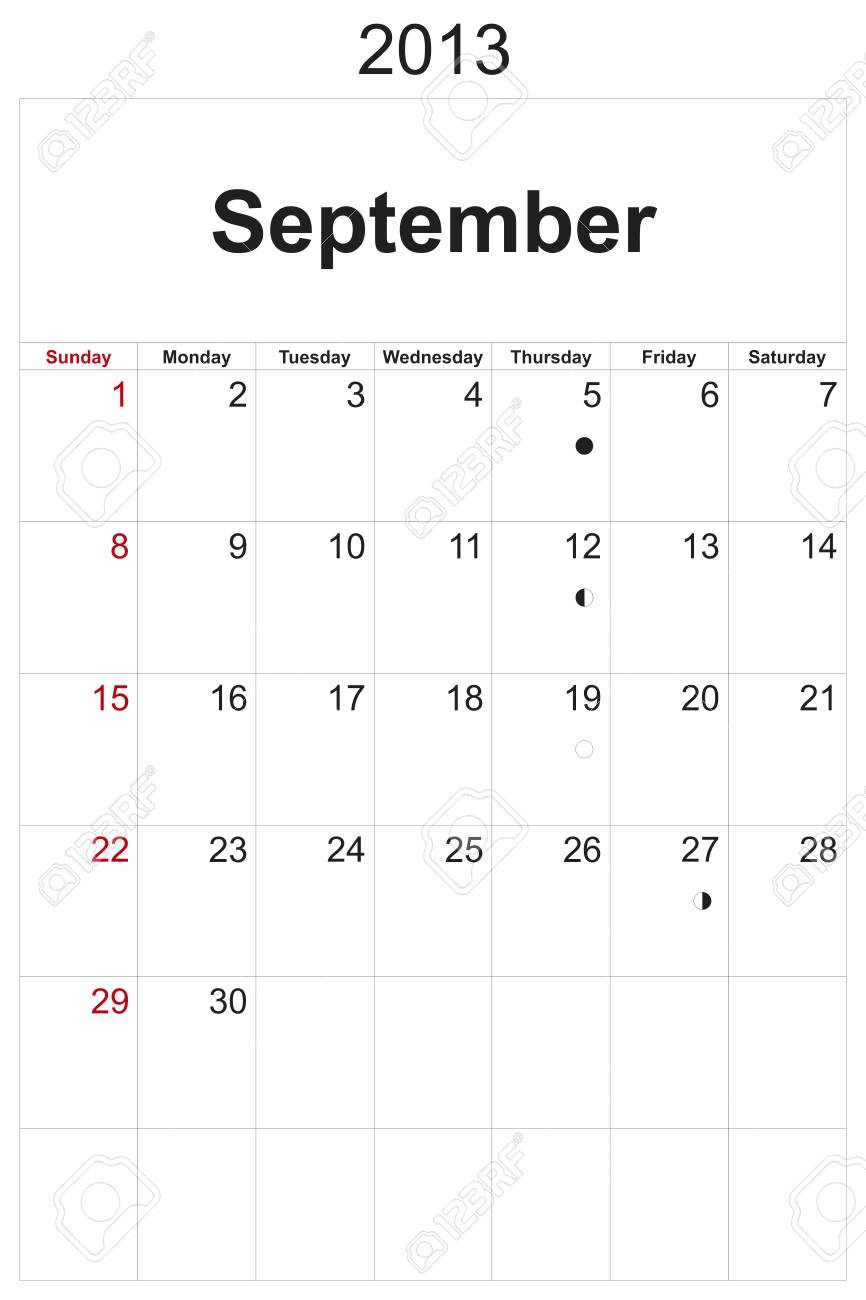 2013 calendar designed by computer using design software, with white background Stock Photo - 17222368