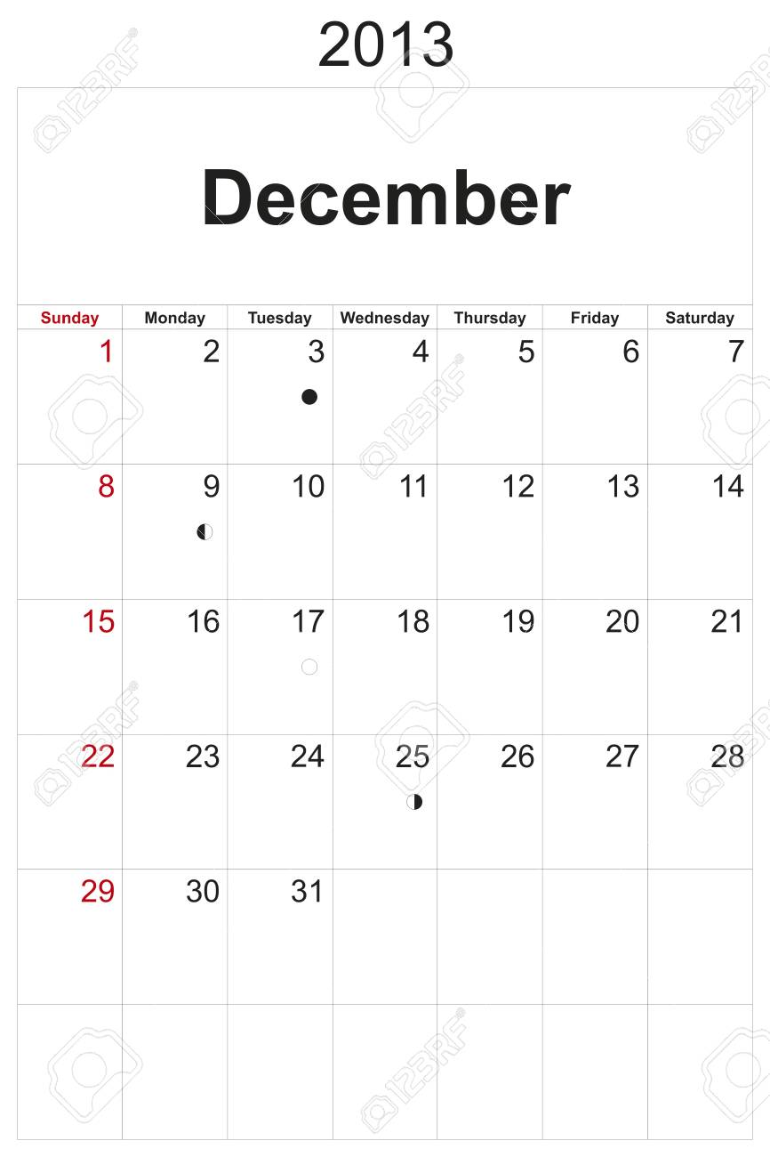 2013 calendar designed by computer using design software, with white background Stock Photo - 17222367