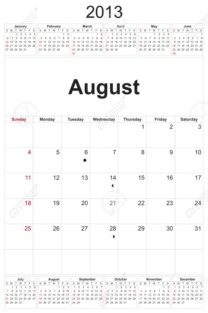 2013 calendar designed by computer using design software, with white background Stock Photo - 17222384