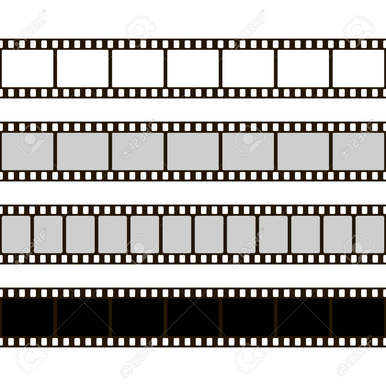 Film Strip Set. Collection Of Film For The Camera. Cinema Frame ...