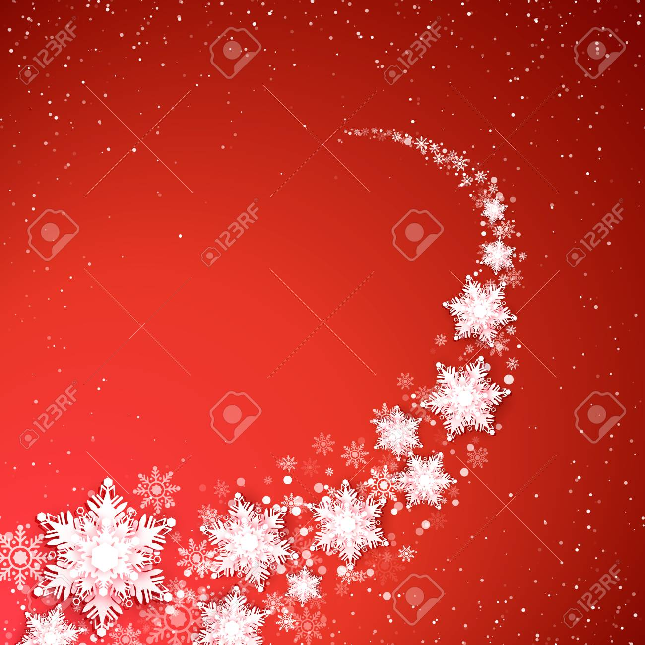 Holiday blizzard. Christmas and New Year background. Snowflakes trail. Vector illustration - 127129815