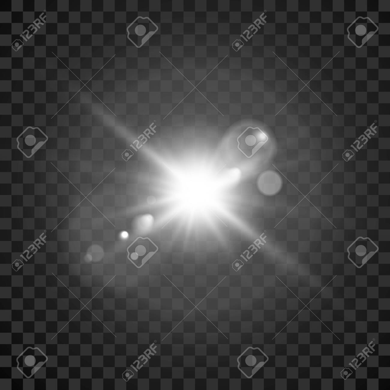 Star burst. Transparent glow light effect. Star burst. Bright flash with lens effect. Vector - 147085779