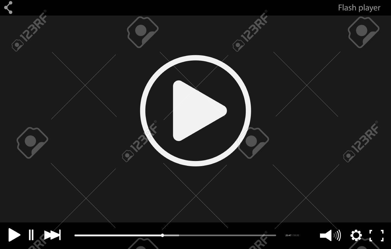 Video player mockup web template red stock vector (royalty free.