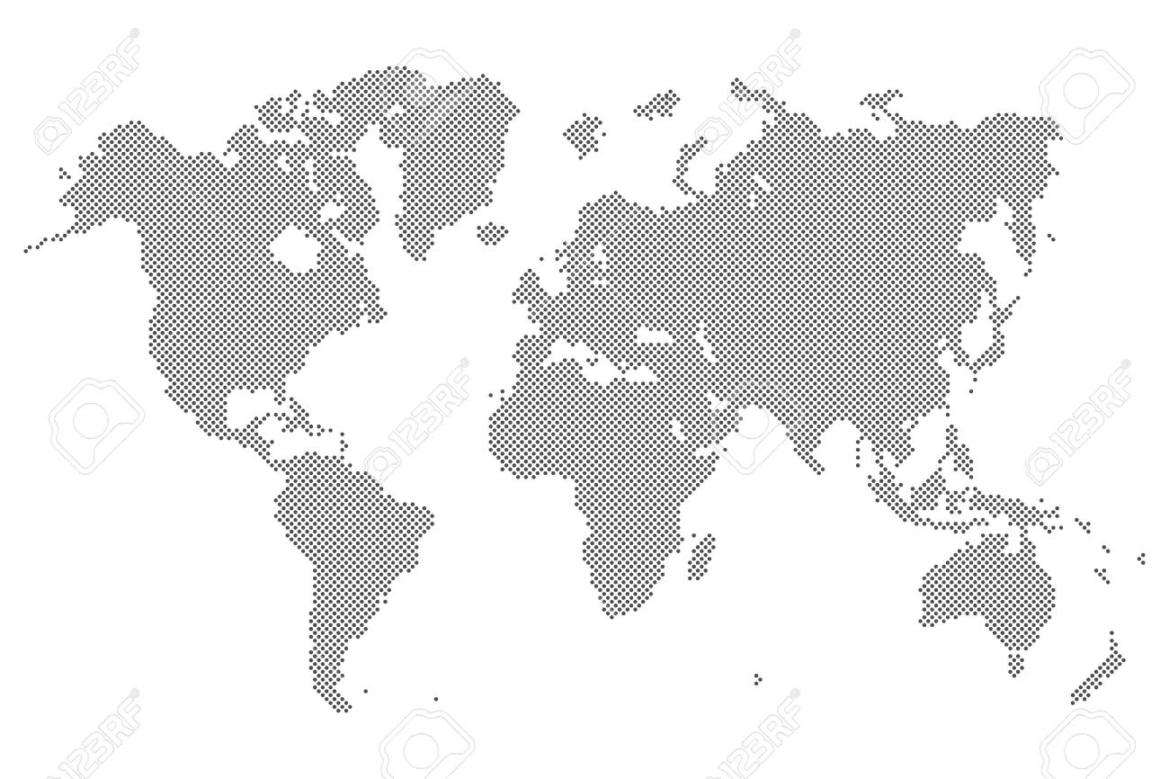 Gray dotted world map isolated on background blank point template gray dotted world map isolated on background blank point template for infographic cover design gumiabroncs Image collections