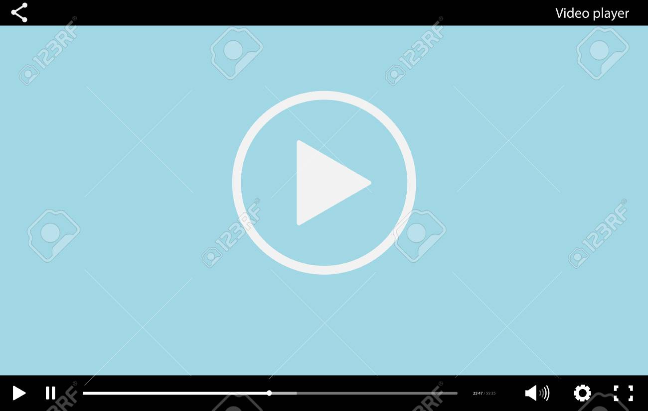 Flash video player template.