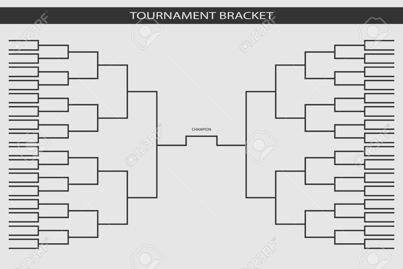 Soccer, Baseball Tournament Bracket For Your Design. Champion ...