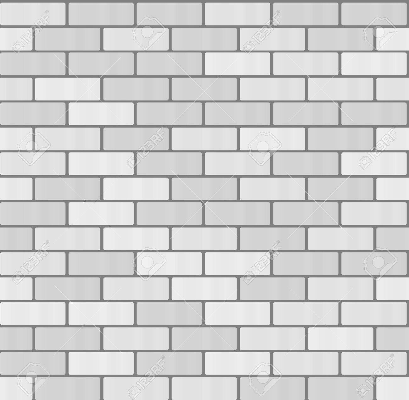 Gray White Brick Wall Seamless Pattern Background Flat Pictogram Concept Trendy Simple Vector Symbol