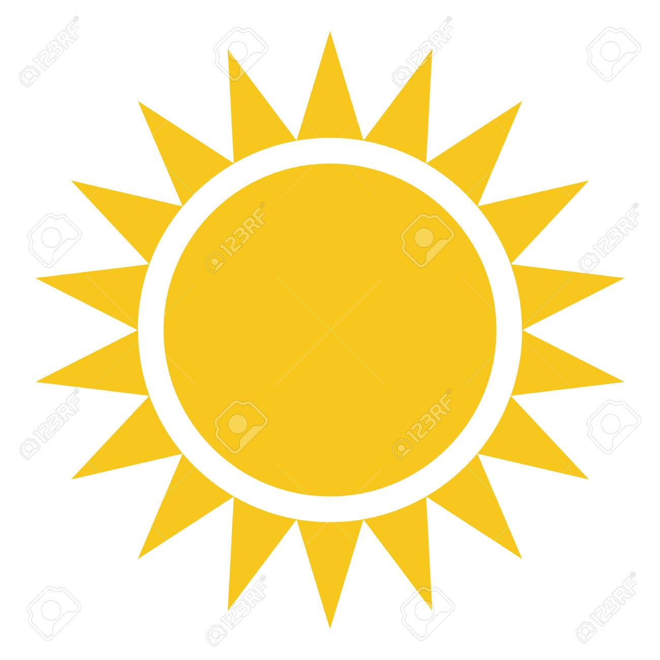 yellow gold sun icon isolated on background modern flat pictogram rh 123rf com Free Vector Backgrounds Free Sun Graphics