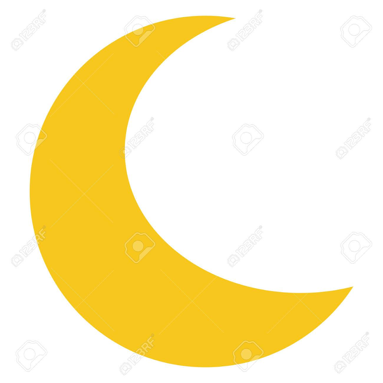 Yellow Moon icon isolated on background. Modern flat pictogram, business, marketing, internet concept. Trendy Simple vector symbol for web site design or button to mobile app. illustration - 59872797