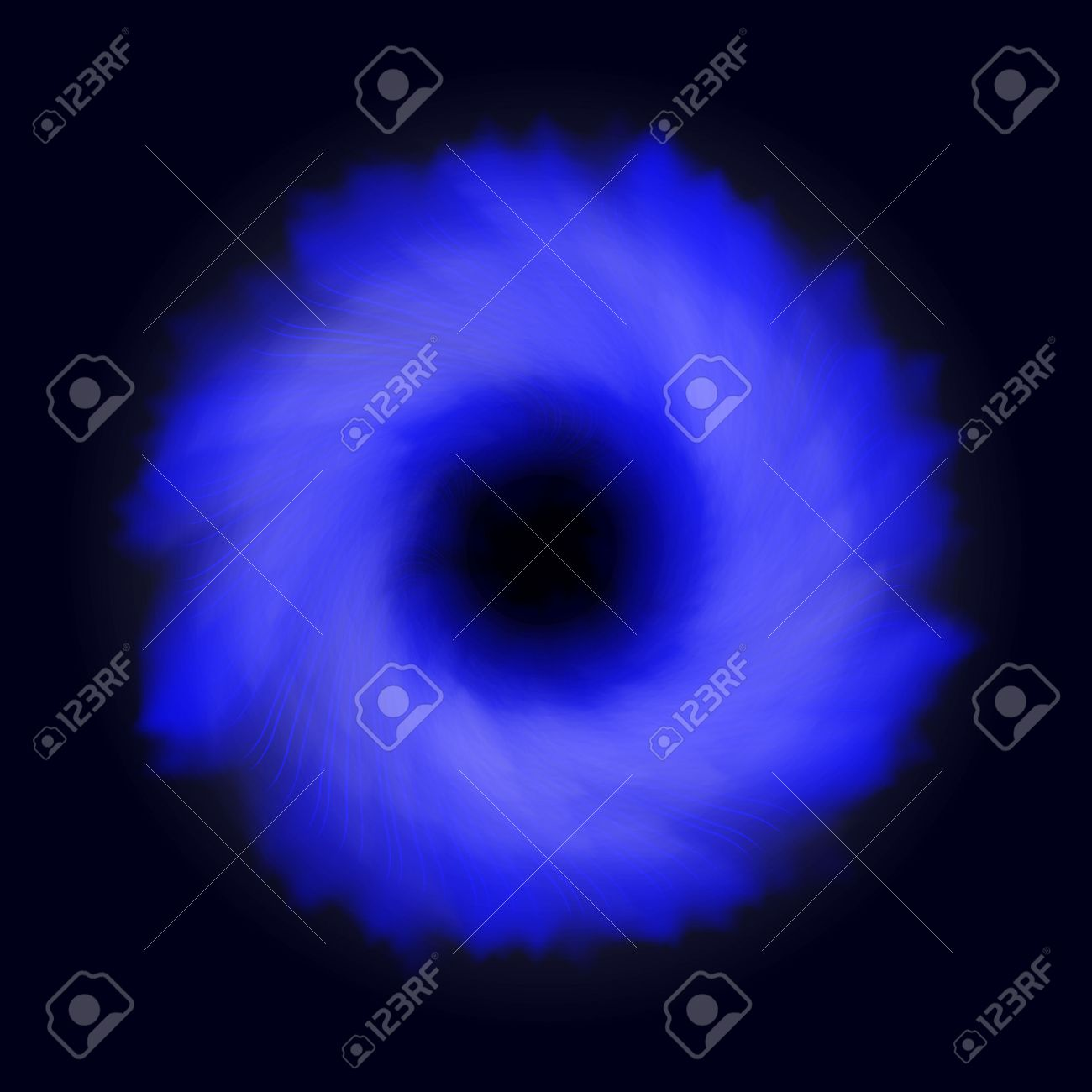 transparent black hole light effect space vortex blue abstract background design of blue