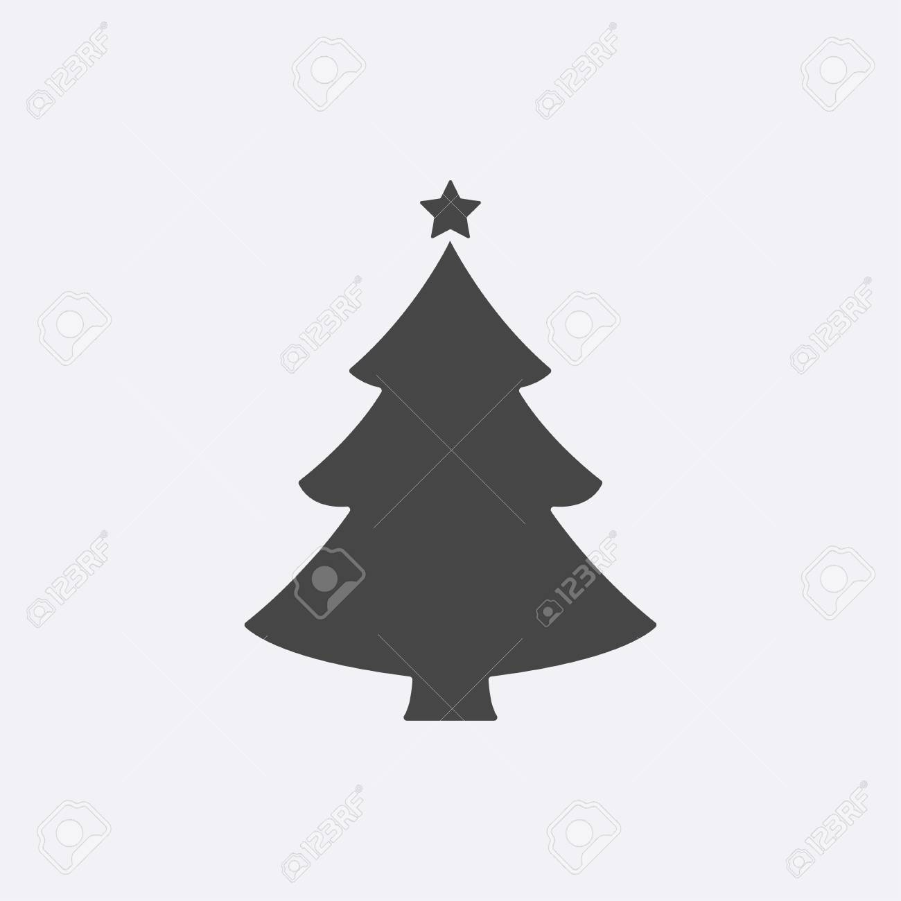 Christmas Tree Vector Image.Christmas Tree Modern Flat Pictogram Internet Concept Trendy