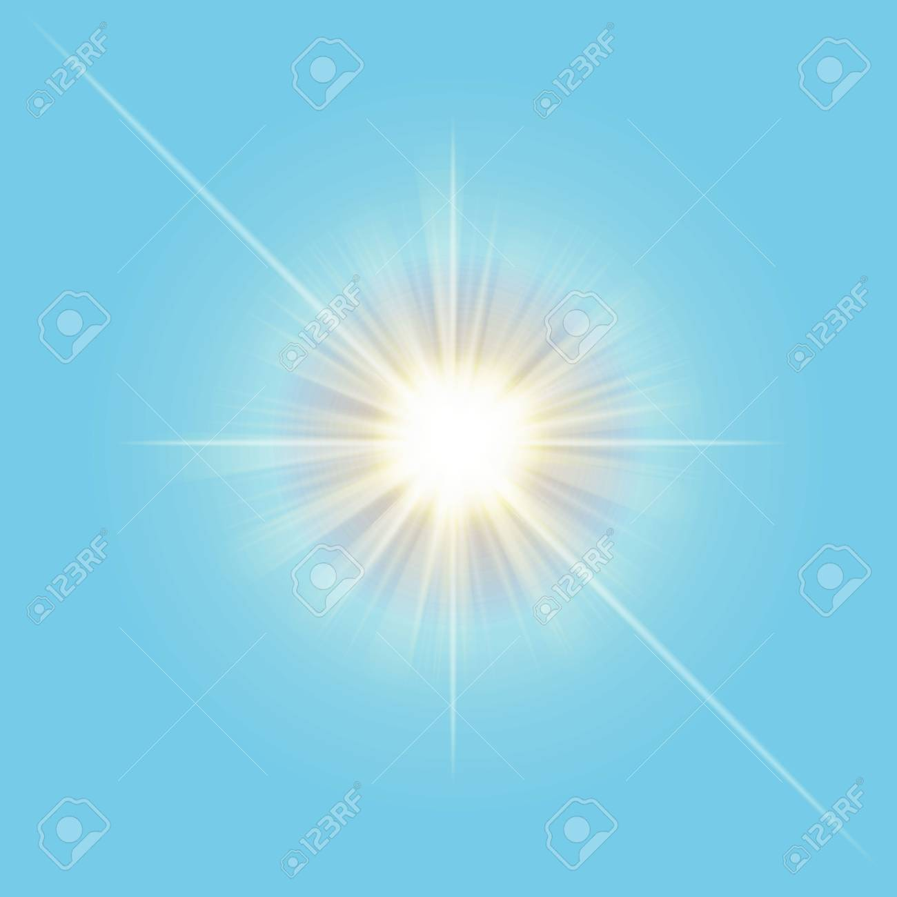 Transparent Vector Sun Light Line Isolated On Sky Blue Background ... for Sun Light Effect Background  568zmd