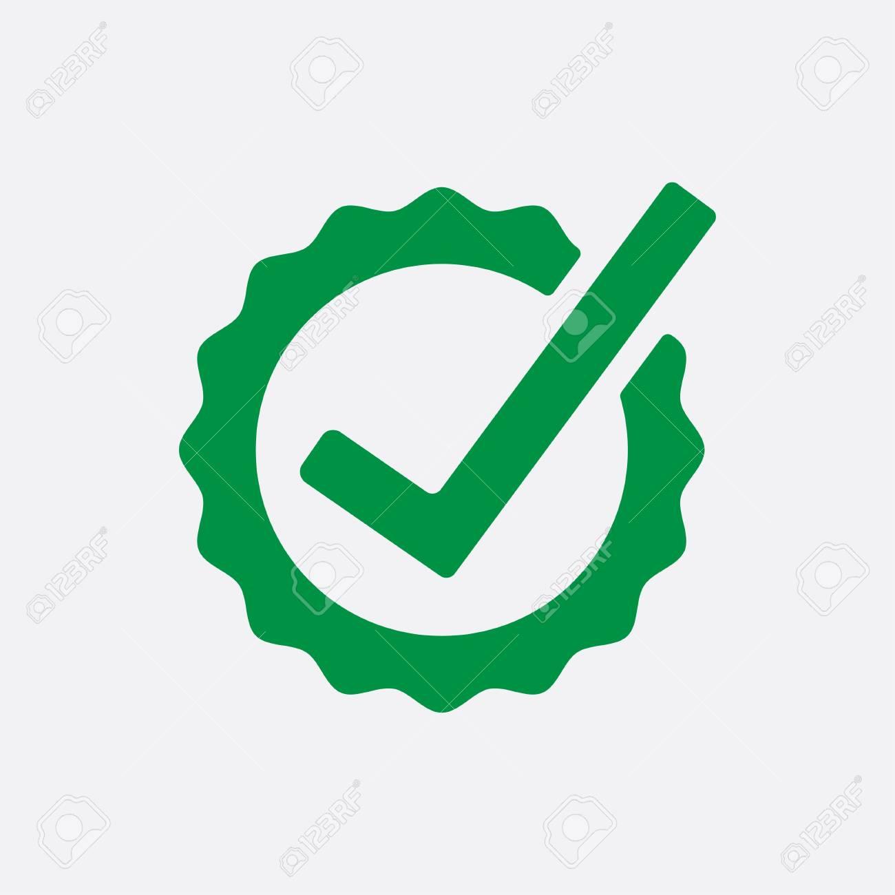 Icono De Botón De Lista De Verificación Verde. Marca De Verificación ...