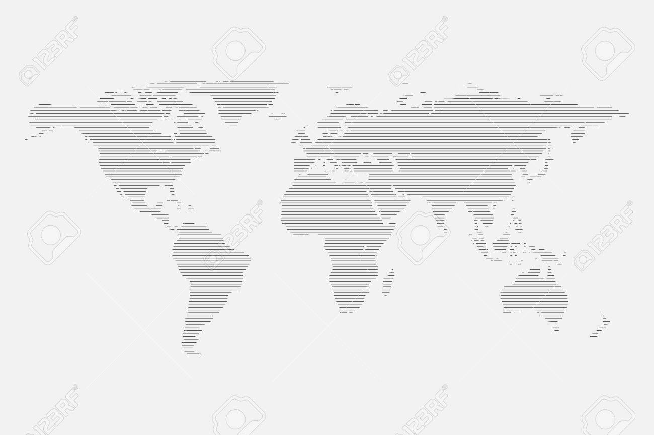 Grey world map of lines isolated on white background flat globe grey world map of lines isolated on white background flat globe template for website design gumiabroncs Images